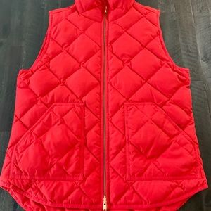 J.CREW Womens Down Quilted Vest Full Zip Up Sz Med